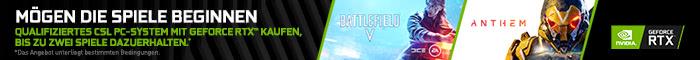 Battlefield V und Anthem zu ausgewählten PC-Systemen!