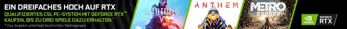Battlefield V, Anthem und Metro Exodus zu ausgewählten PC-Systemen!