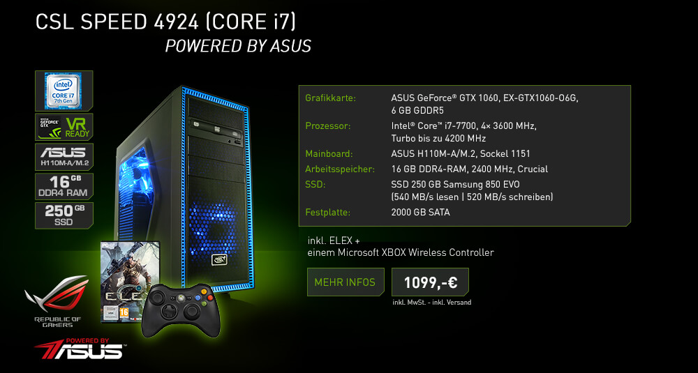 CSL Speed 4924 (Core i7) - Powered by ASUS