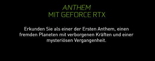 Anthem™ mit GeForce RTX - Erkunden Sie als einer der Ersten Anthem, einen fremden Planeten mit verborgenen Kräften und einer mysteriösen Vergangenheit. - VIDEO ANSEHEN