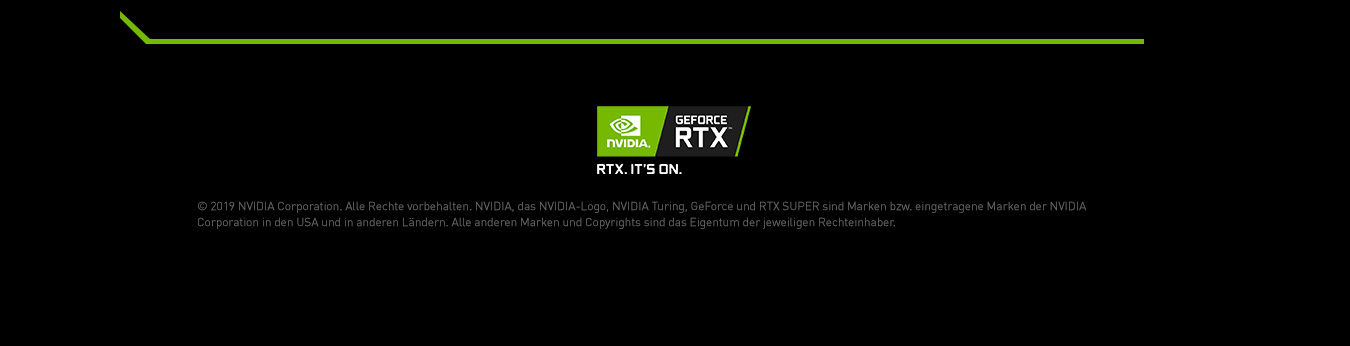 Footer Nvidia RTX Super Serie
