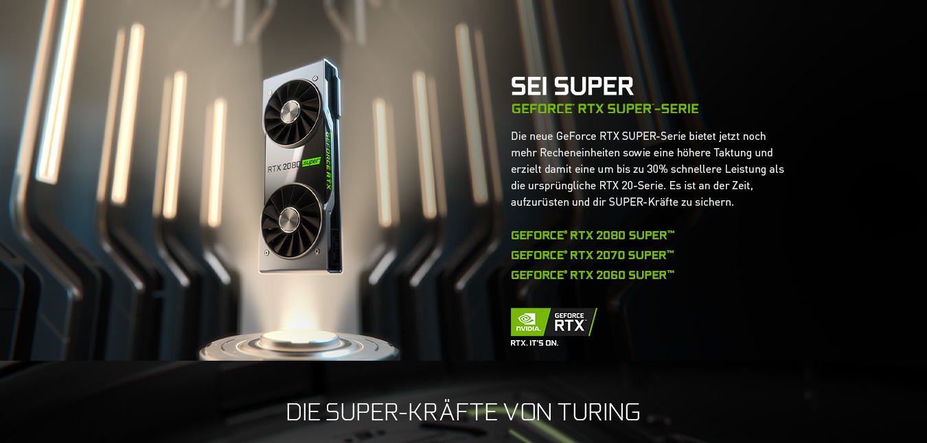 SEI SUPER - GeForce RTX Super-Serie