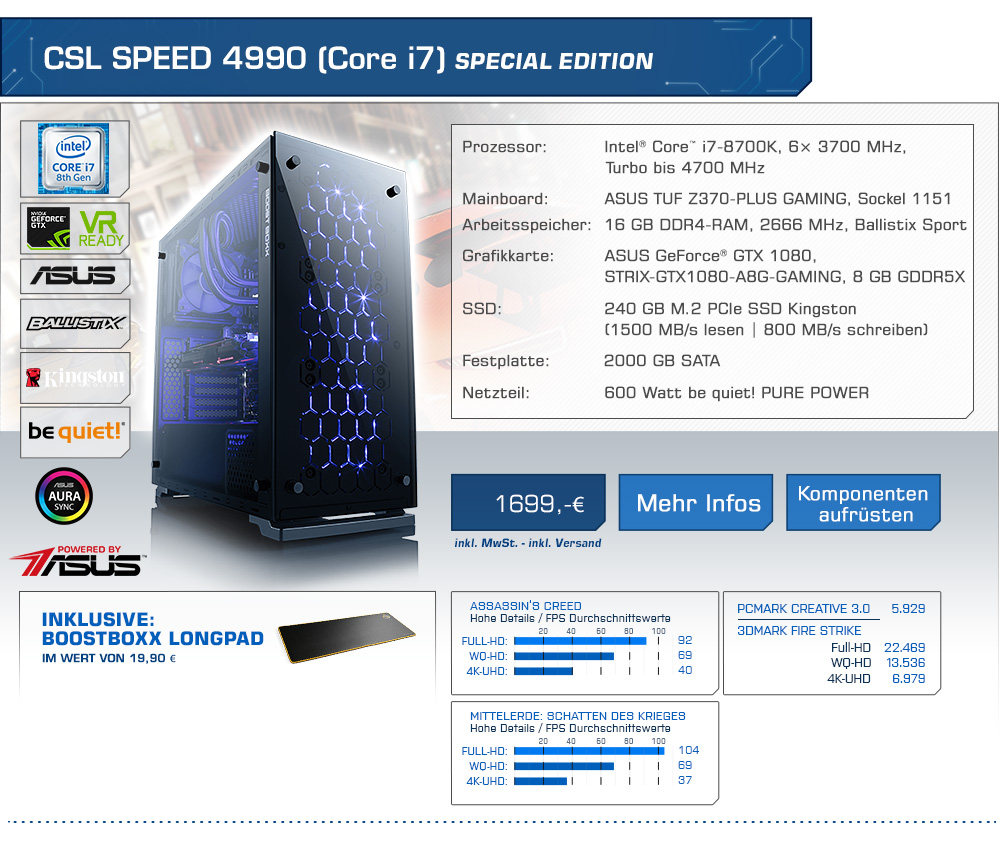 CSL Speed 4990 (Core i7) Special Edition