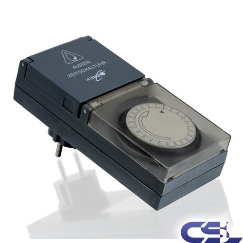 au en zeitschaltuhr 230v zeitschaltung analog timer schalter outdoor ebay. Black Bedroom Furniture Sets. Home Design Ideas