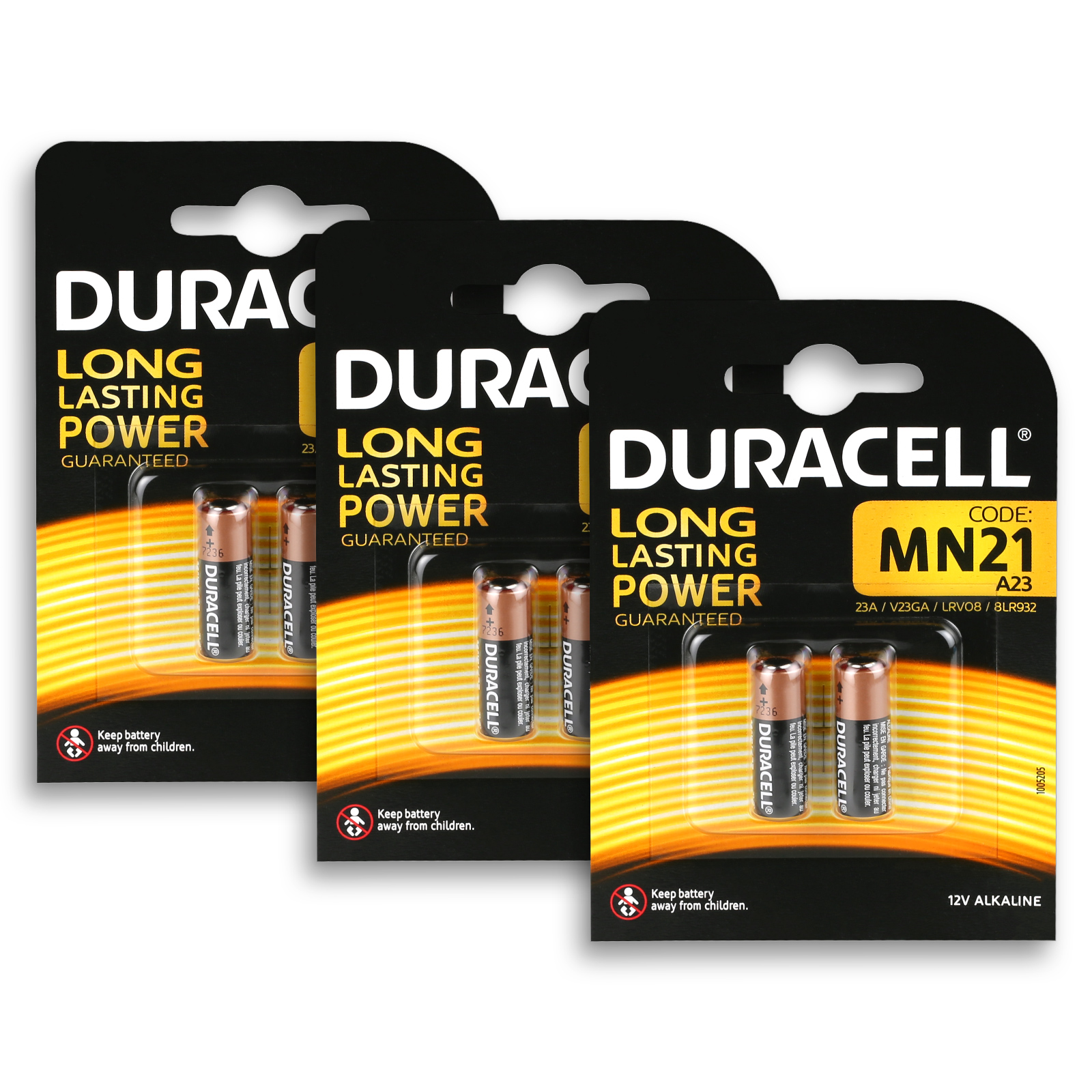 5x Duracell Mn21 Batterie 12v 33mah 23ga Lrv08 23a