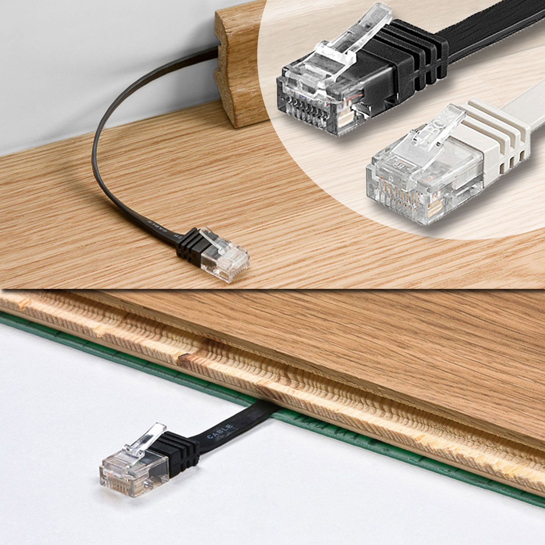 flachkabel cat 6 flaches netzwerkkabel patchkabel 100 1000 mbit ebay. Black Bedroom Furniture Sets. Home Design Ideas