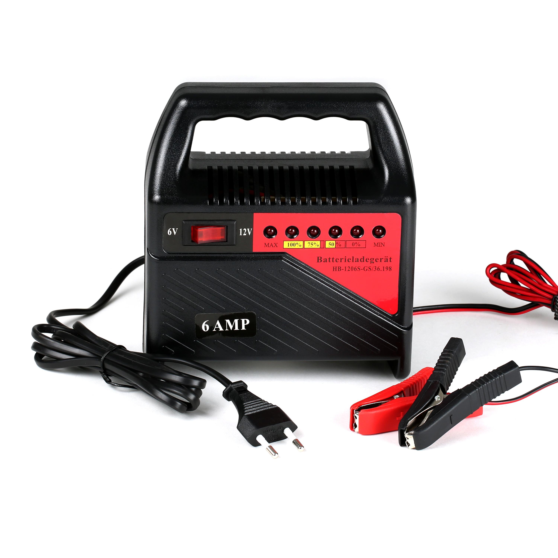 kfz pkw batterieladeger t auto batterie ladeger t akku batterielader 6v 12v 6 a ebay. Black Bedroom Furniture Sets. Home Design Ideas