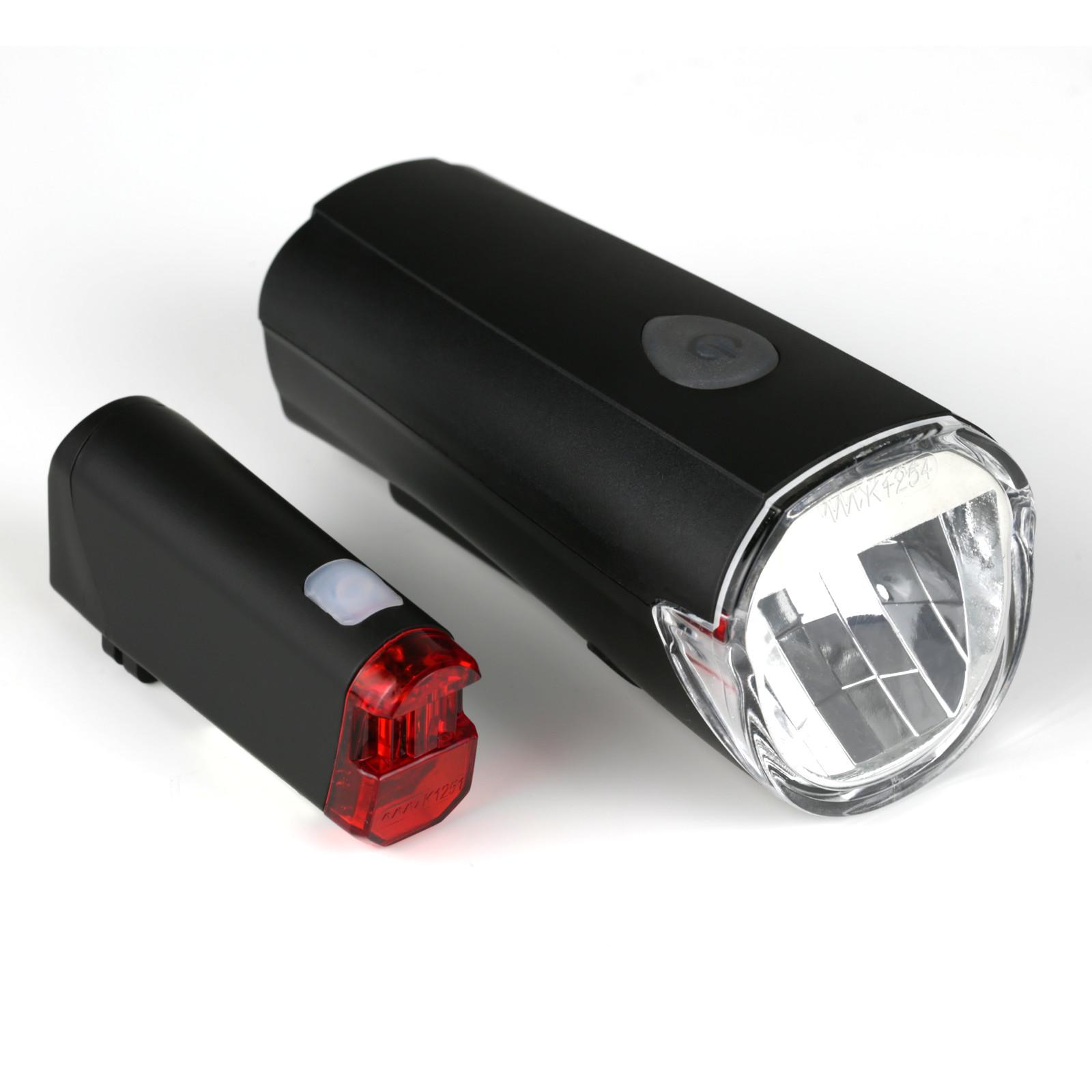 fahrrad led beleuchtungsset 30lux stvzo zugelassen batteriebetrieb ebay. Black Bedroom Furniture Sets. Home Design Ideas