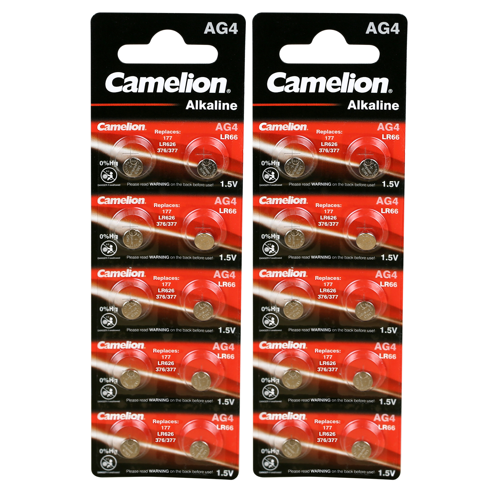 20 x Original Camelion AG4 1,5V Alkaline Knopfzelle AG 4 ...