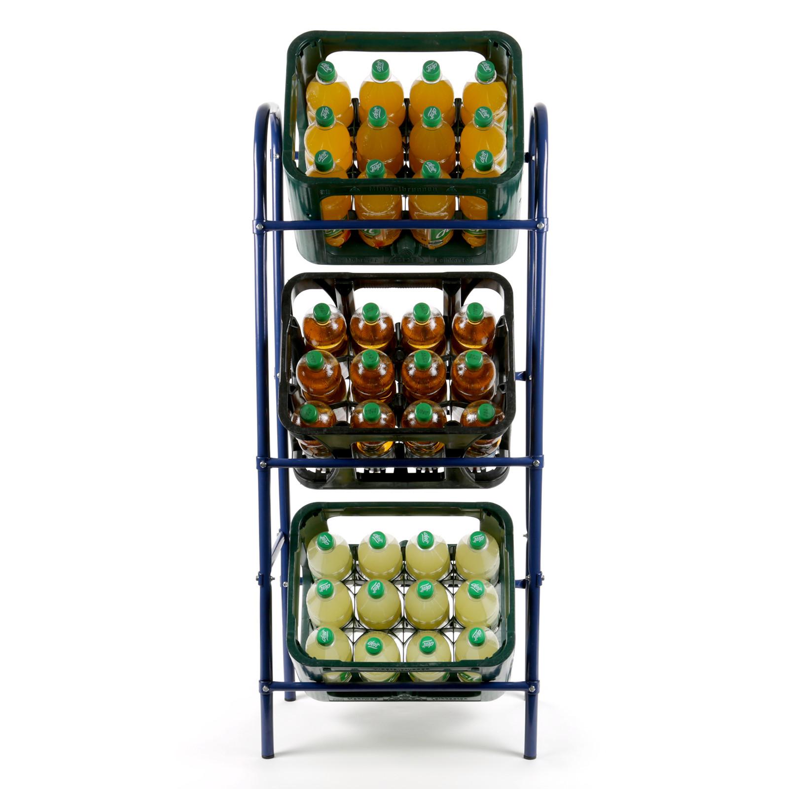 Flaschenkastenregal für 3 Kasten Getränkeständer Kastenregal ...