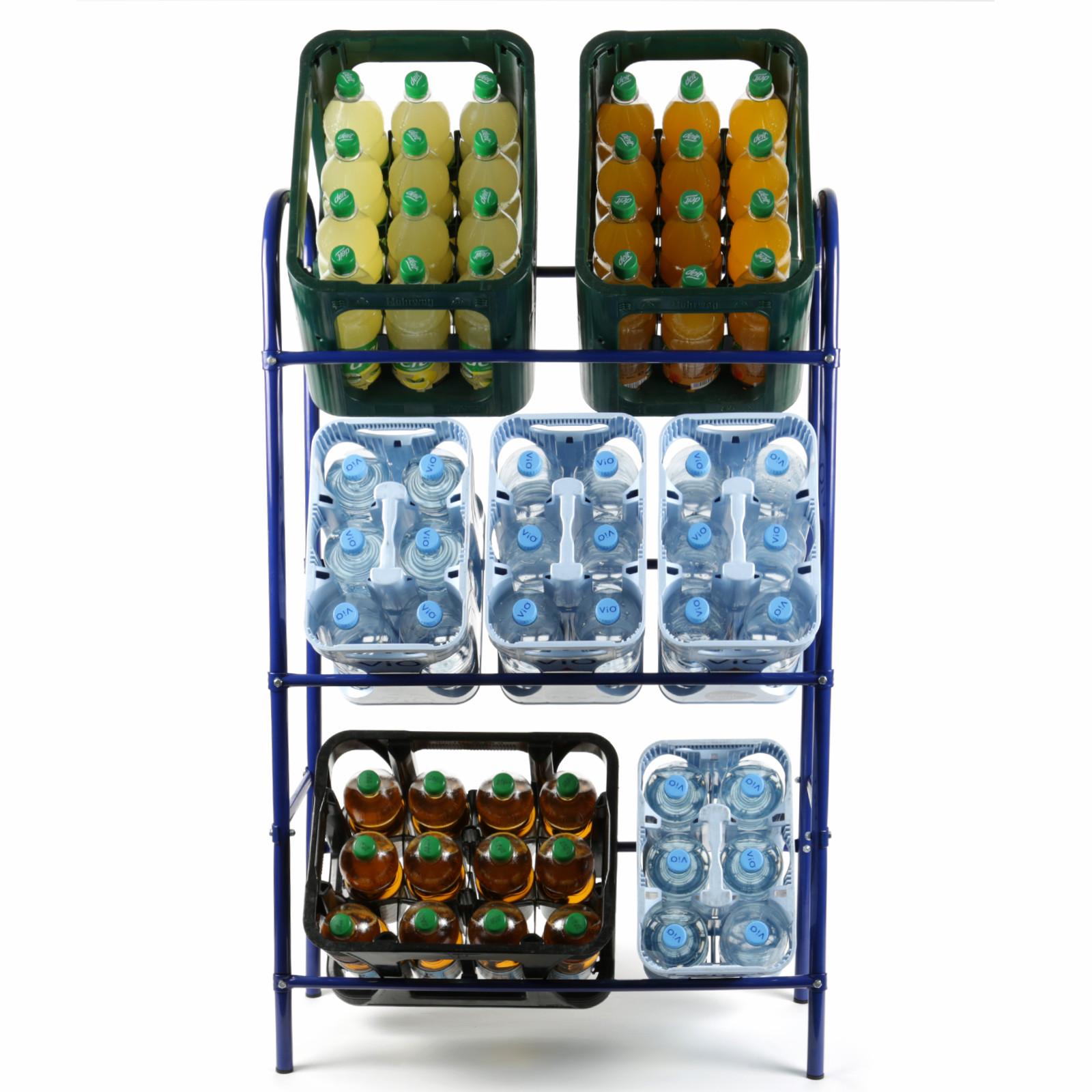 Flaschenkastenregal für 6 Kasten Getränkeständer Kastenregal ...